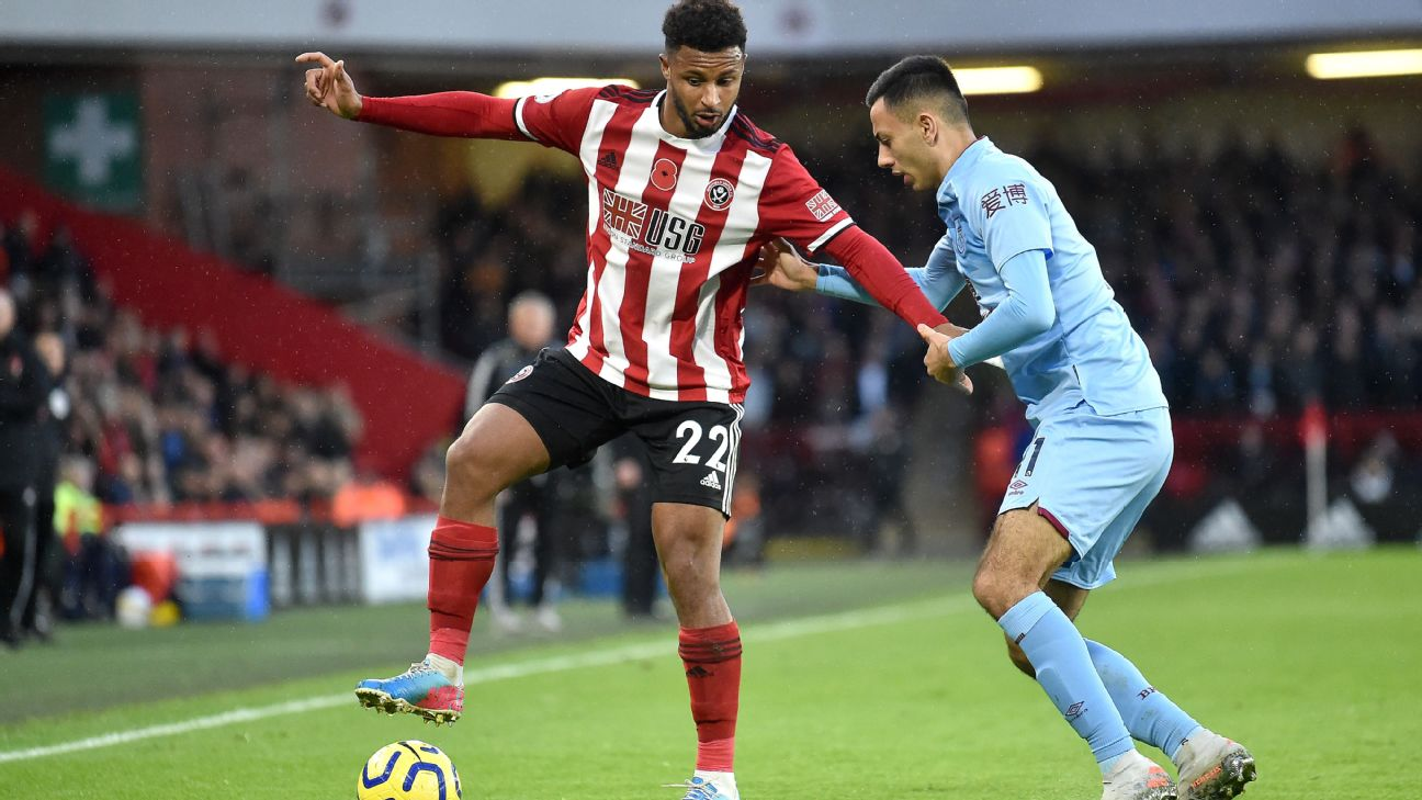 Lys Mousset , Sheffield United's Franco-Senegalese forward, maintained his fine form with a trio of assists against Burnley at Bramall Lane in English Premier League matchday 11..