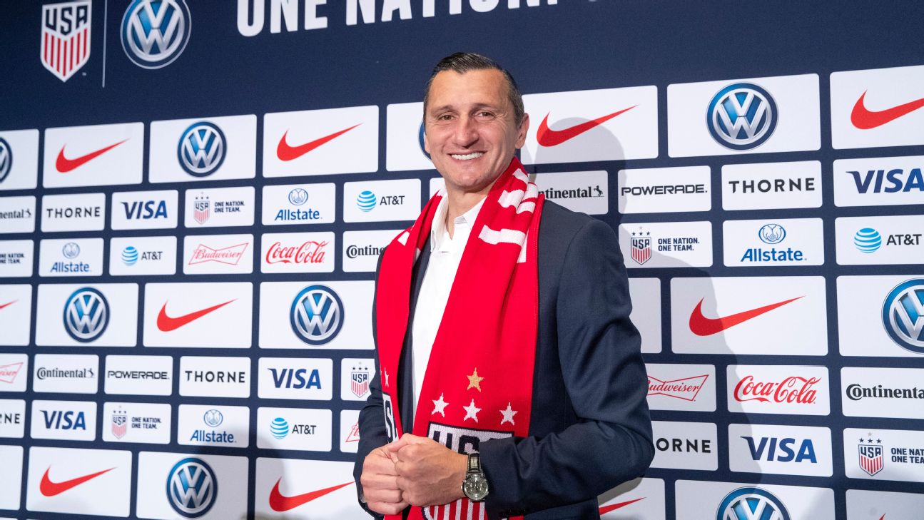 Vlatko Andonovski faces a challenge in his first game as head coach of the U.S. women's national team. Sweden is No. 5 in the world and a team that has got the best of the United States in major tournaments.