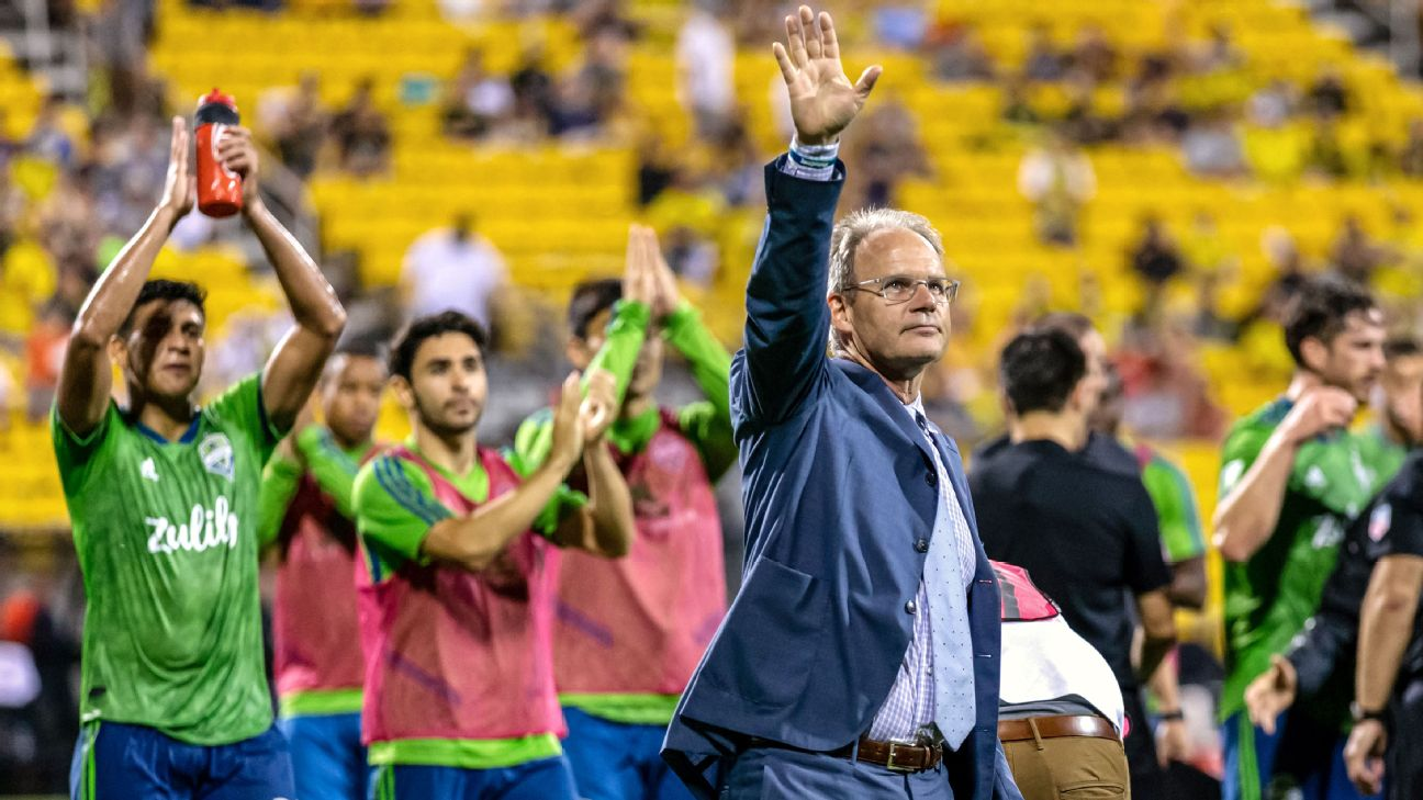 Brian Schmetzer has led the Seattle Sounders to three MLS Cups in four seasons.