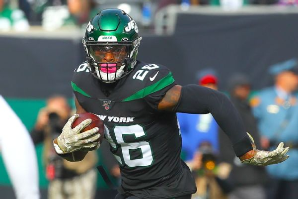 Jets rule out ill Bell vs. Dolphins on