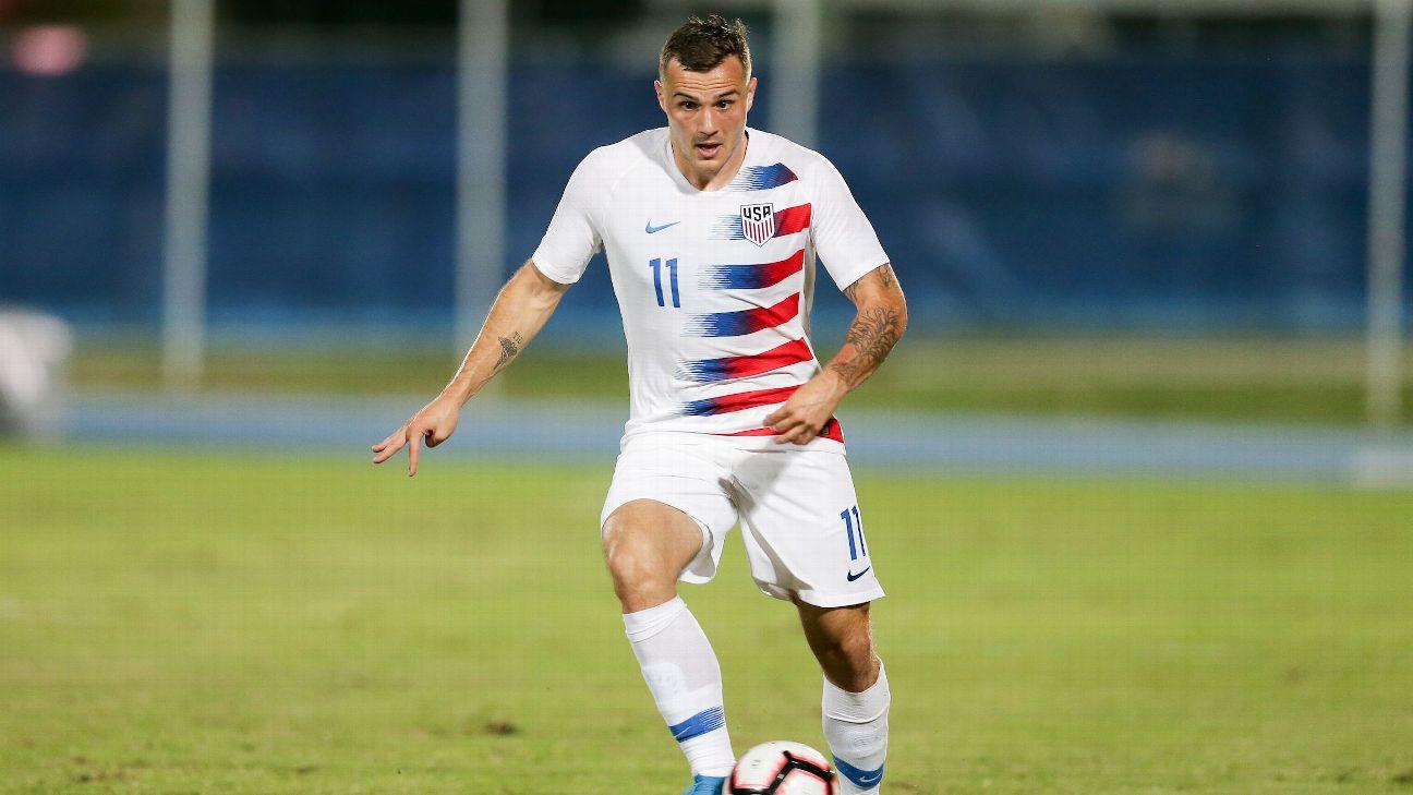 Jordan Morris scored twice in the United States' win over Cuba on Tuesday night.