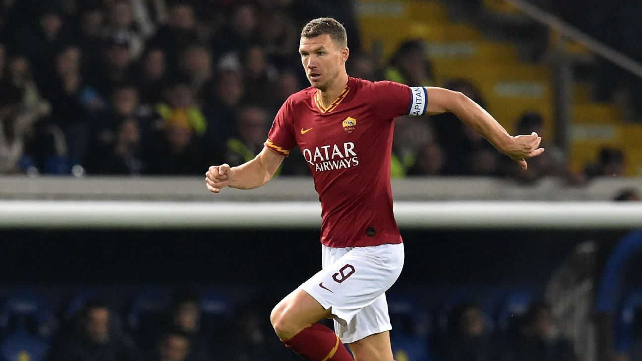 Edin Dzeko won two Premier League titles with Manchester United's rivals, City.