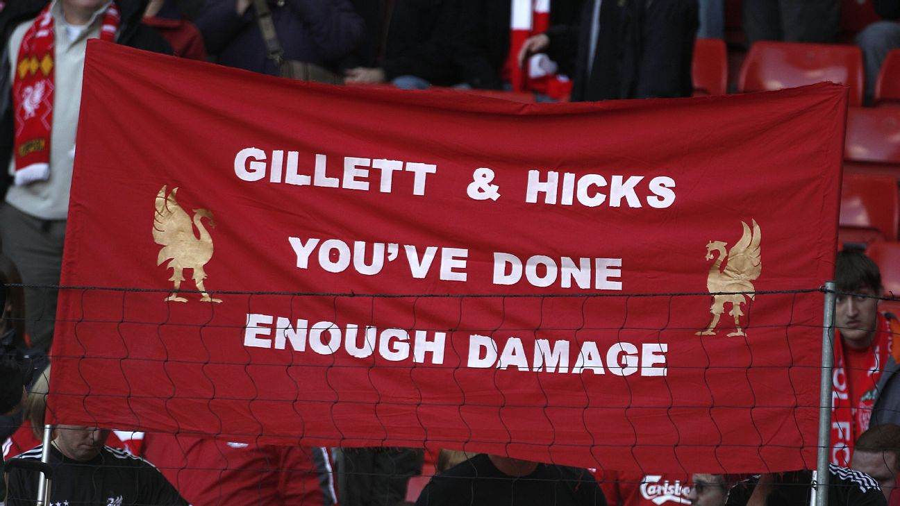 Former Liverpool co-owners Tom Hicks and George Gillett took over the club in 2007 and left in 2010 after John Henry's acquisition.
