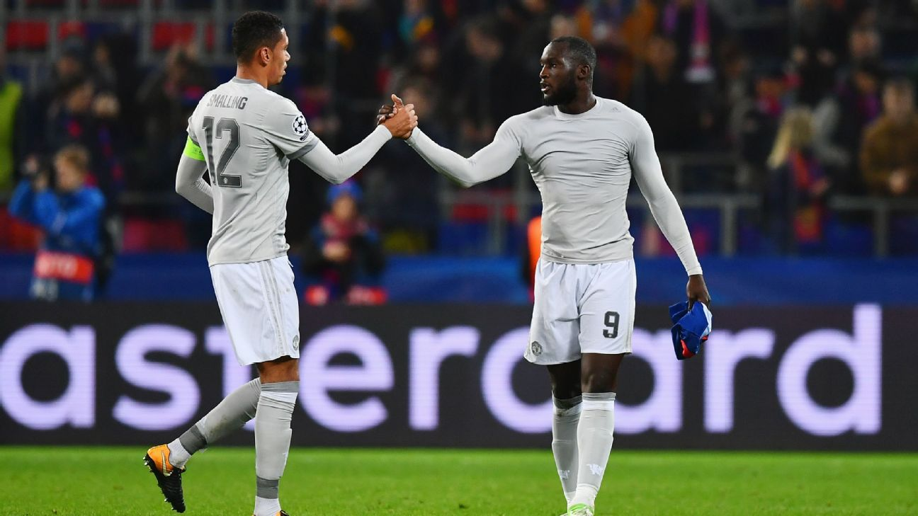 Chris Smalling and Romelu Lukaku, Manchester United
