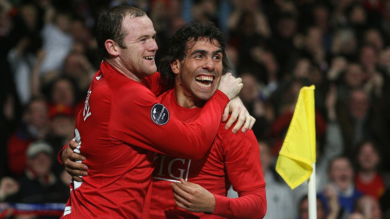 Carlos Tevez and Wayne Rooney, Manchester United