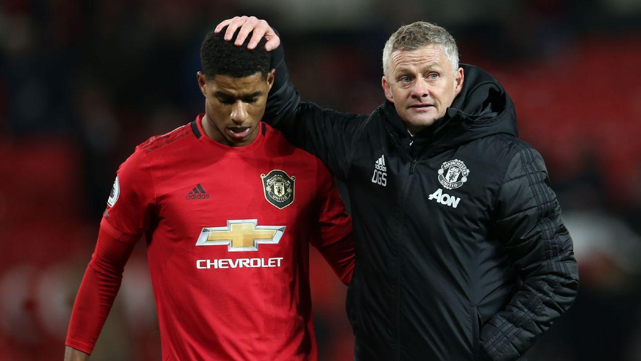 Ole Gunnar Solskjaer and Marcus Rashford, Manchester United