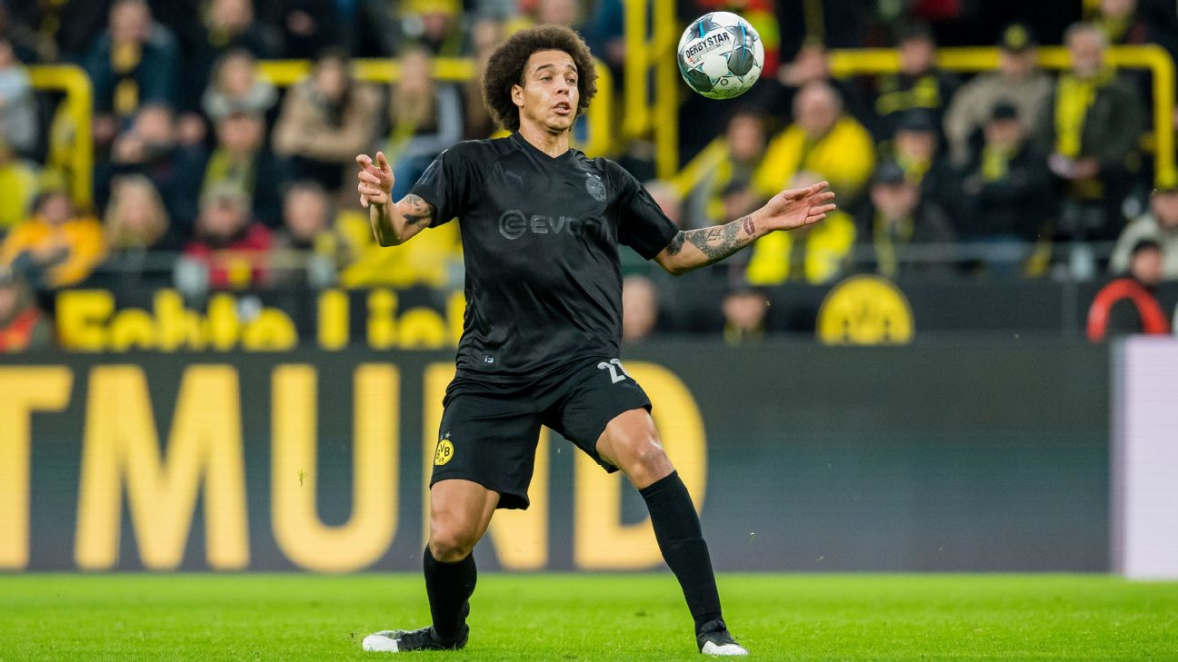 Axel Witsel played in Borussia Dortmund's 5-0 Bundesliga home win over Fortuna Dusseldorf on Saturday.