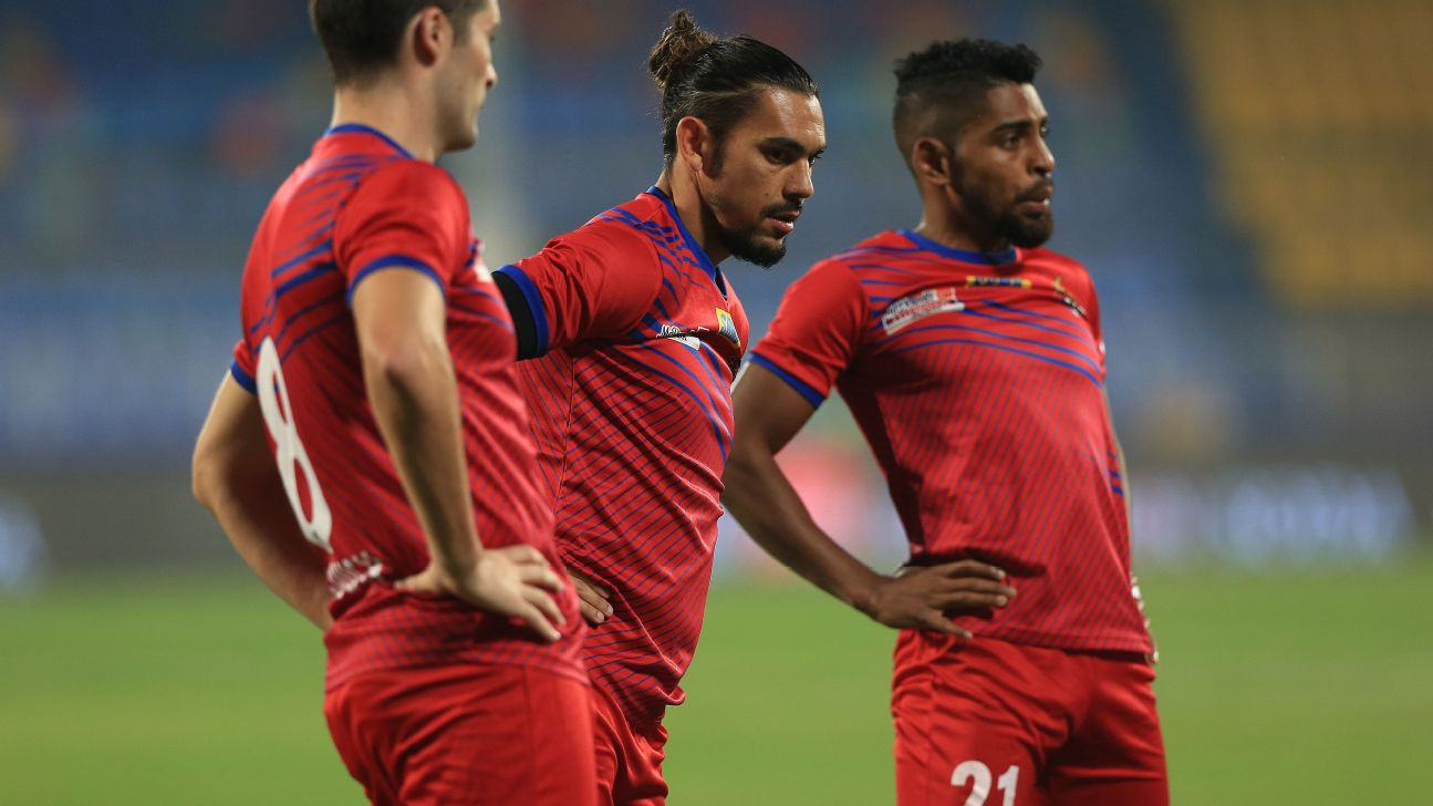 David Williams (centre) and Roy Krishna have scored 10 of ATK's 15 goals this season.