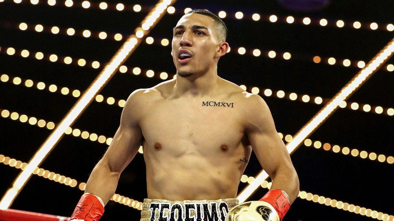 Teófimo asegura poner en alto el nombre de Honduras durante su pelea.