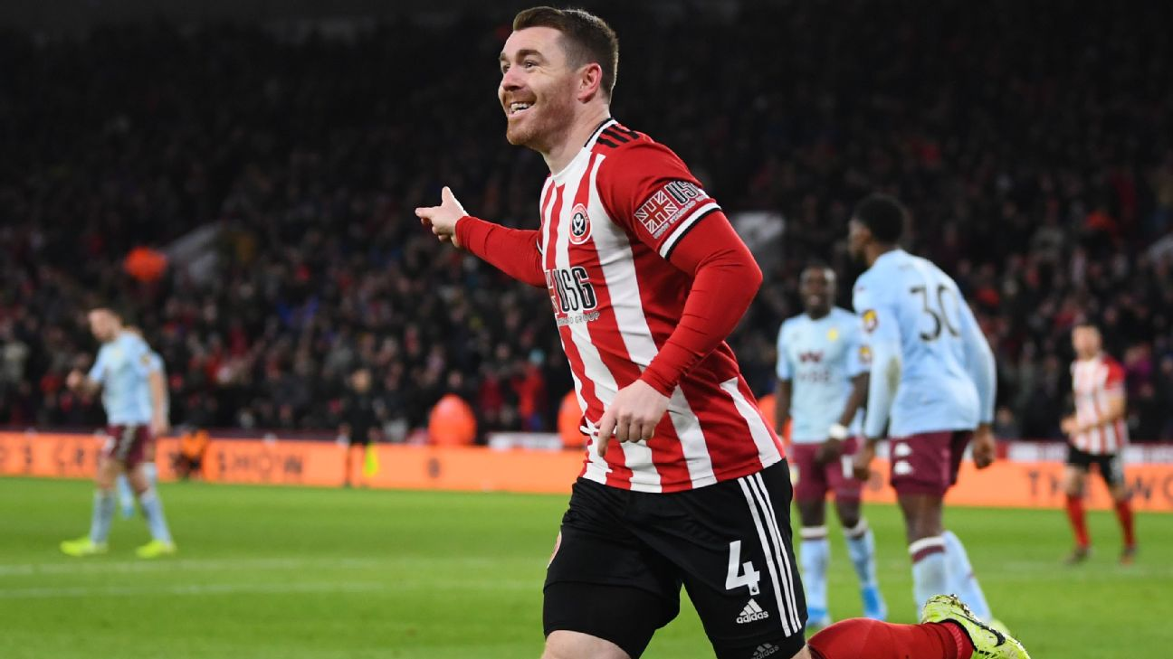Sheffield United go fifth as Fleck double downs Aston Villa