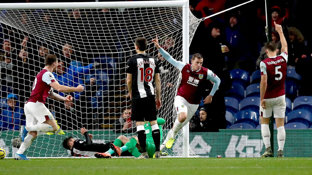 Wood header gives Burnley win over Newcastle