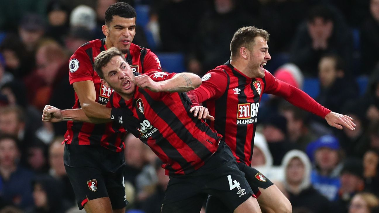 Chelsea stunned with a loss to Bournemouth at home