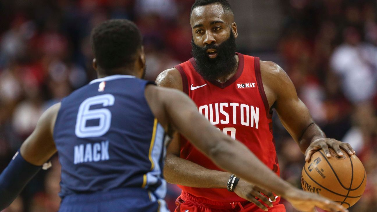 6b8214e6b63 James Harden stays hot with 43-point triple-double vs. Grizzlies ...