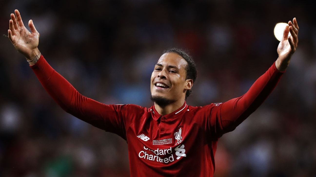 Virgil van Dijk was one of five players from Liverpool to make the list.