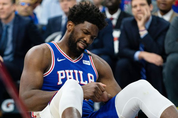 Embiid practices, targets next week for return