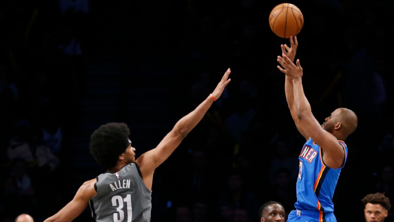 Chris Paul's clutch shooting for OKC pushes Nets' skid to 7 games ...