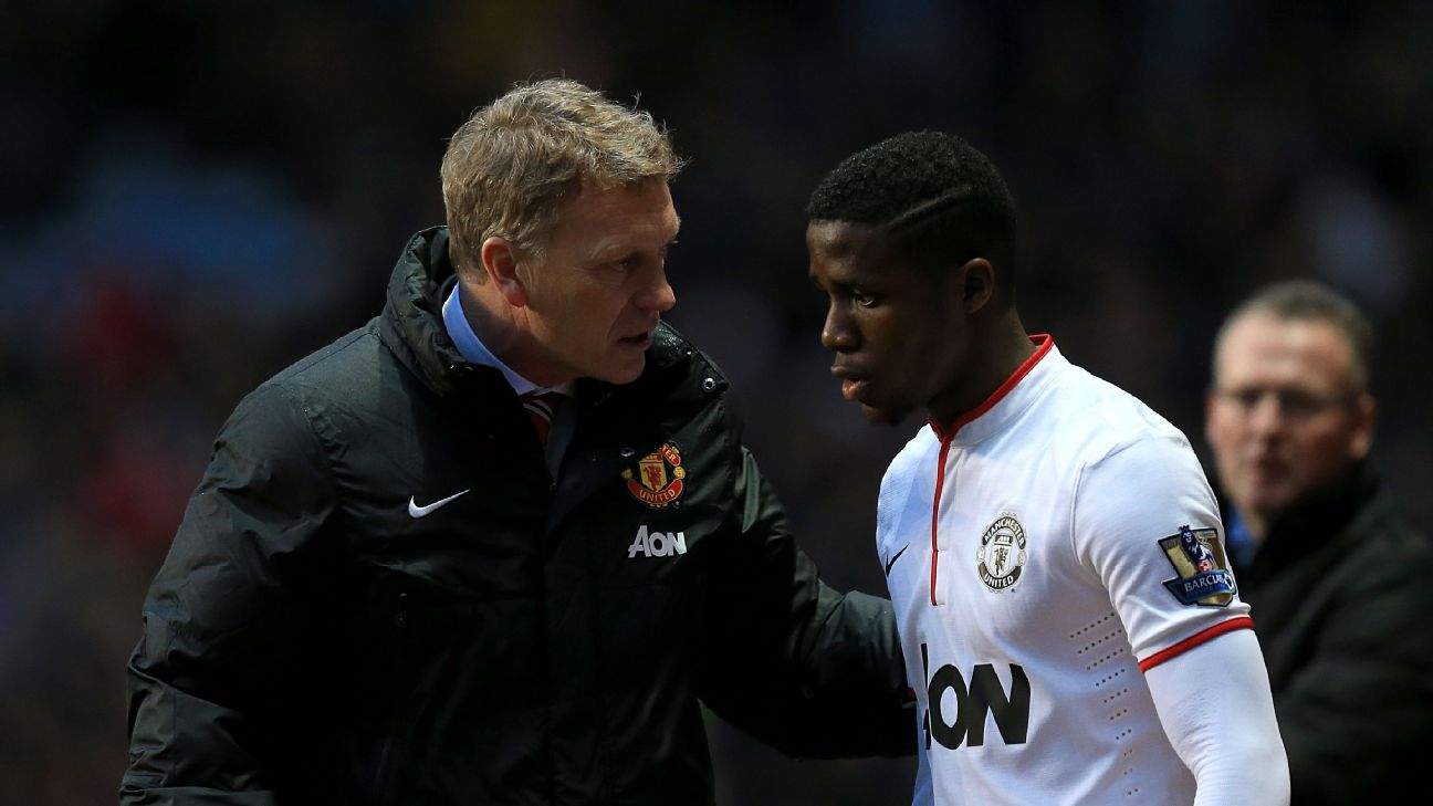 'Look, we're going to send you back to Palace for a bit, you'll love it, I promise...' - Manchester United boss David Moyes to Wilfried Zaha in 2015. Maybe.