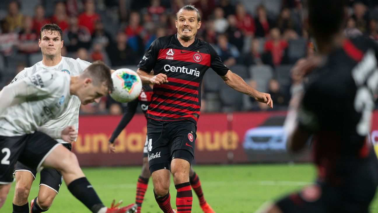 Alex Meier, centre, and the Western Sydney Wanderers have agreed to a mutual contract termination.