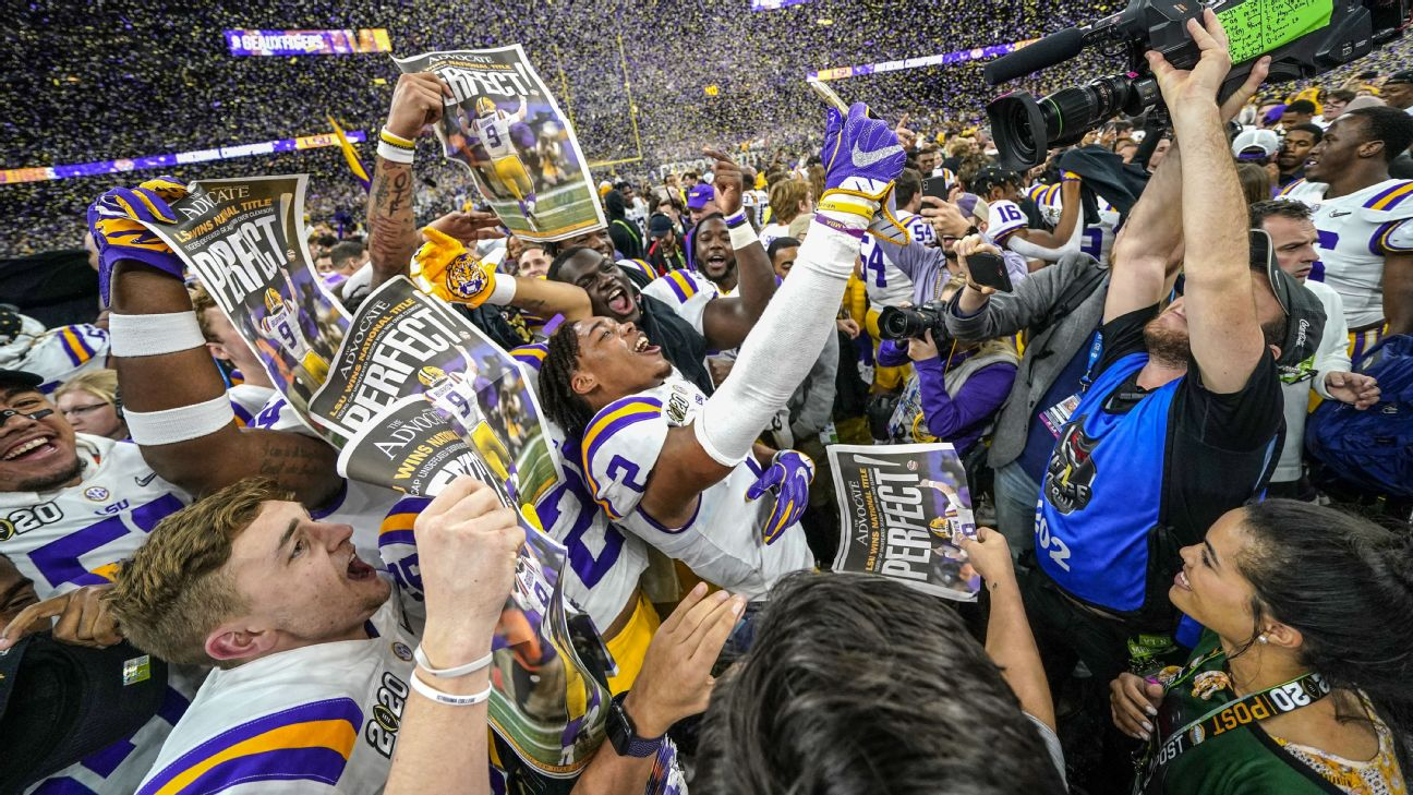 LSU Tigers celebration among must-see sports photos of the week