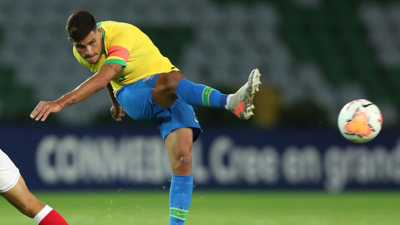 Brazil youth player Bruno Guimaraes has been linked with a move to Arsenal.