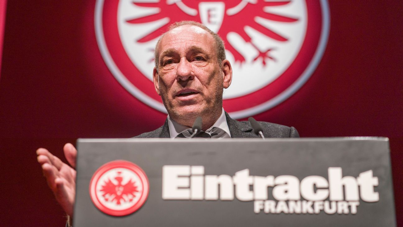Peter Fischer, Eintracht Frankfurt president, announces that Rudolf Gramlich has been stripped of honorary presidency role due to Nazi links
