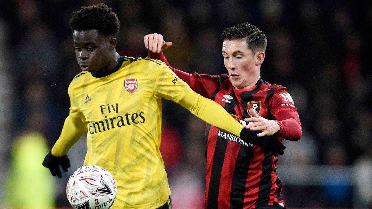 Bukayo Saka enjoyed one of the finest performances of his career against Bournemouth in the FA Cup on Monday.