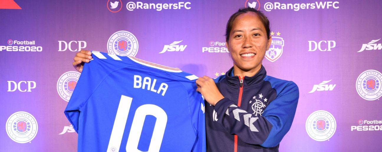 Bala Devi is Rangers' first Asian international footballer.