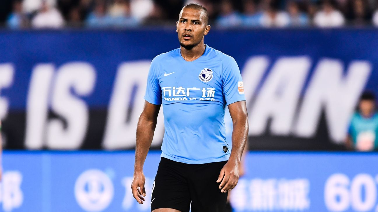 Jose Salomon Rondon of Dalian Yifang in action during the 2019 Chinese Football Association Super League