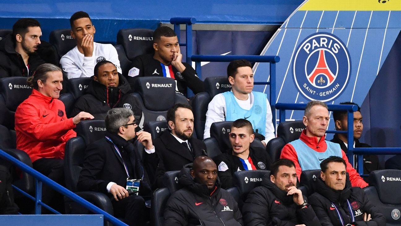 Kylian Mbappe shows his frustrations after being substituted in PSG's win over Montpellier.