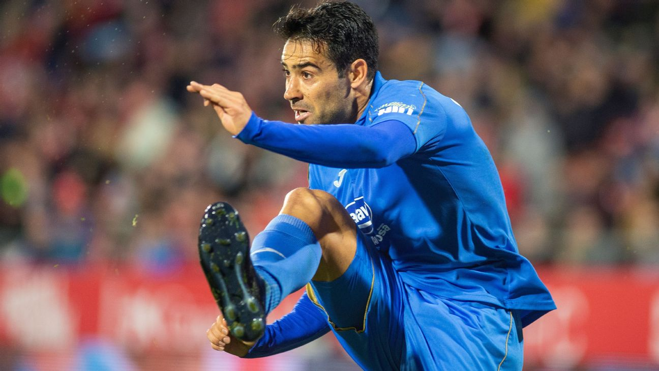 Fuenlabrada midfielder Cristobal Marquez was twice dismissed by the referee after first being saved by VAR.