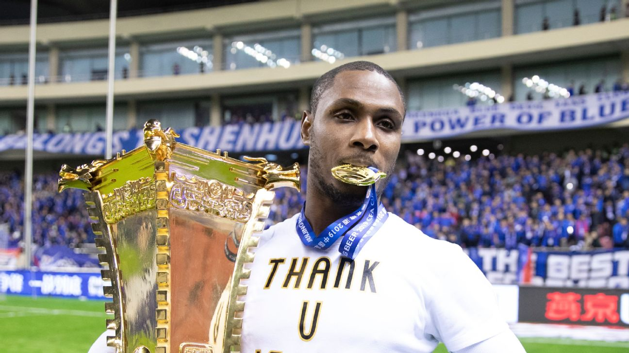 Odion Ighalo had a successful time in China with Shangai Shenhua, winning the 2019 CFA Cup Final last December.