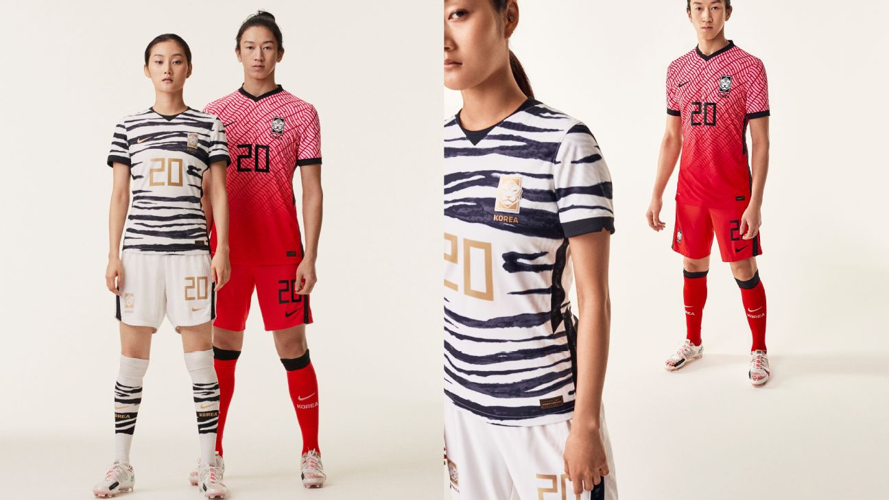 South Korea unveils their 2020 kits.