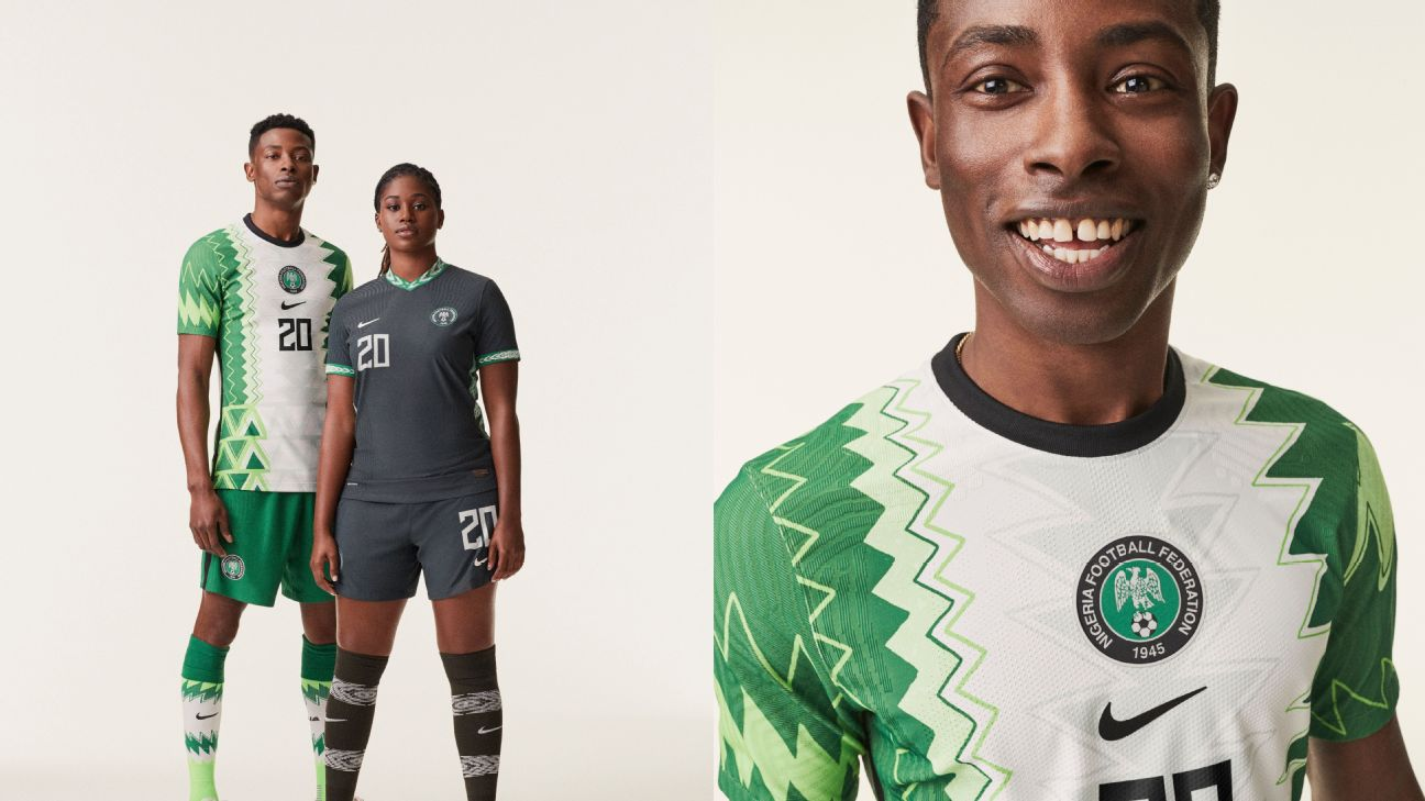 Nigeria unveil their new-for-2020 kits.