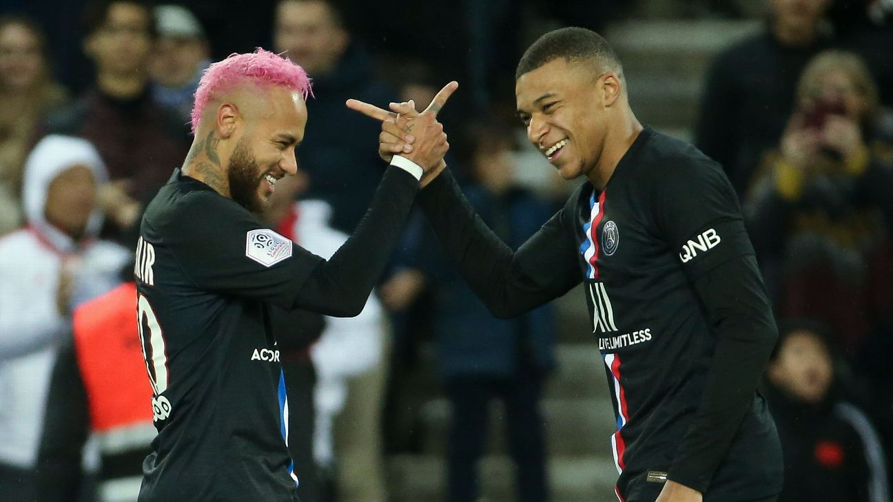 Neymar and Kylian Mbappe have come under fire recently, the former for his off-the-pitch behaviour and the latter for clashing with coach Thomas Tuchel.