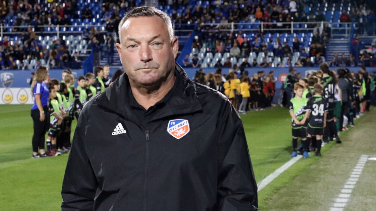 FC Cincinnati head coach Ron Jans.