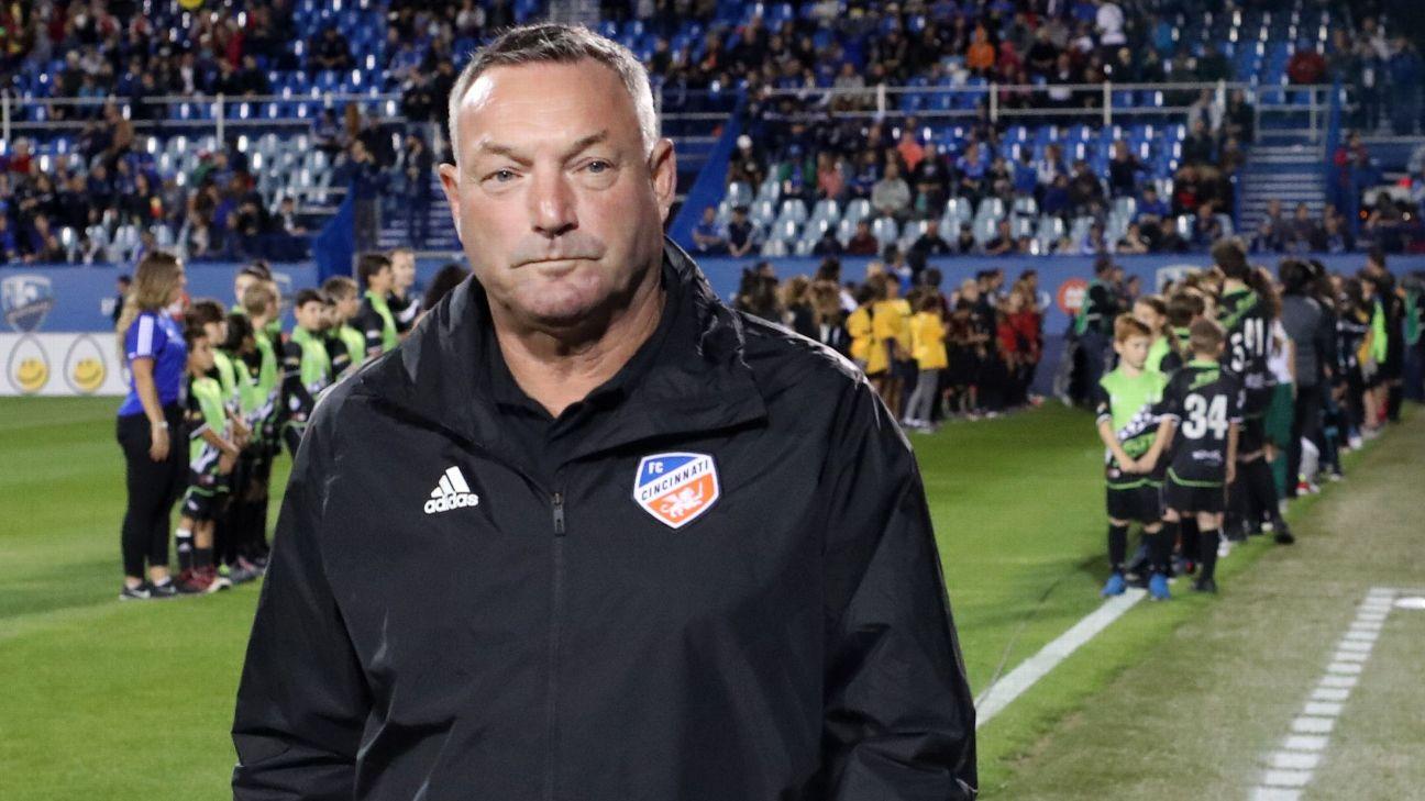 FC Cincinnati head coach Ron Jans.