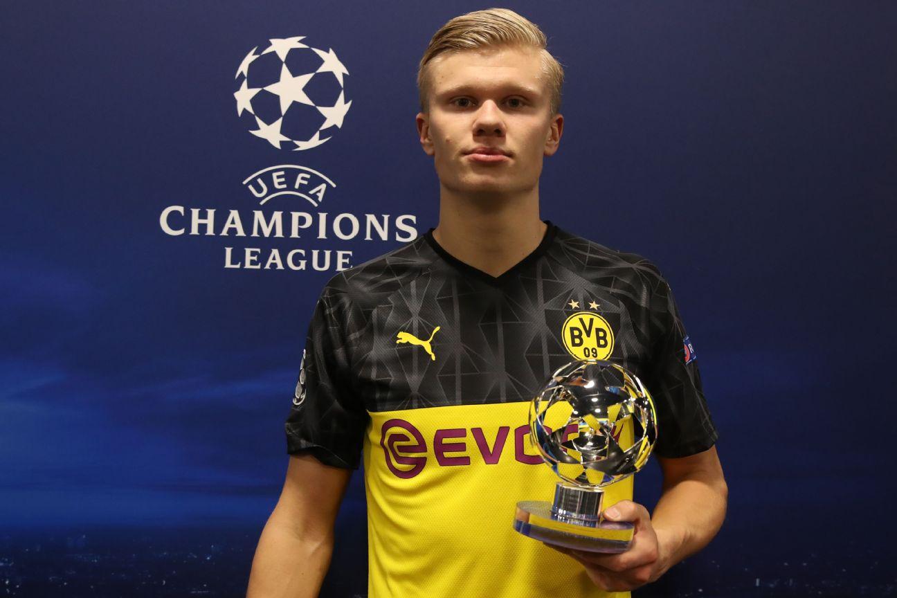 Erling Haaland S Stunning Champions League Goal Stats Dortmund Striker Has Scored More Than Barcelona
