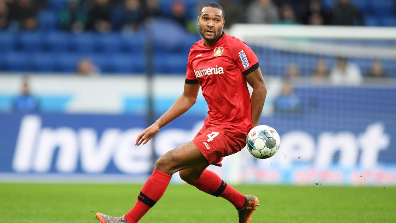 Jonathan Tah of Bayer Leverkusen