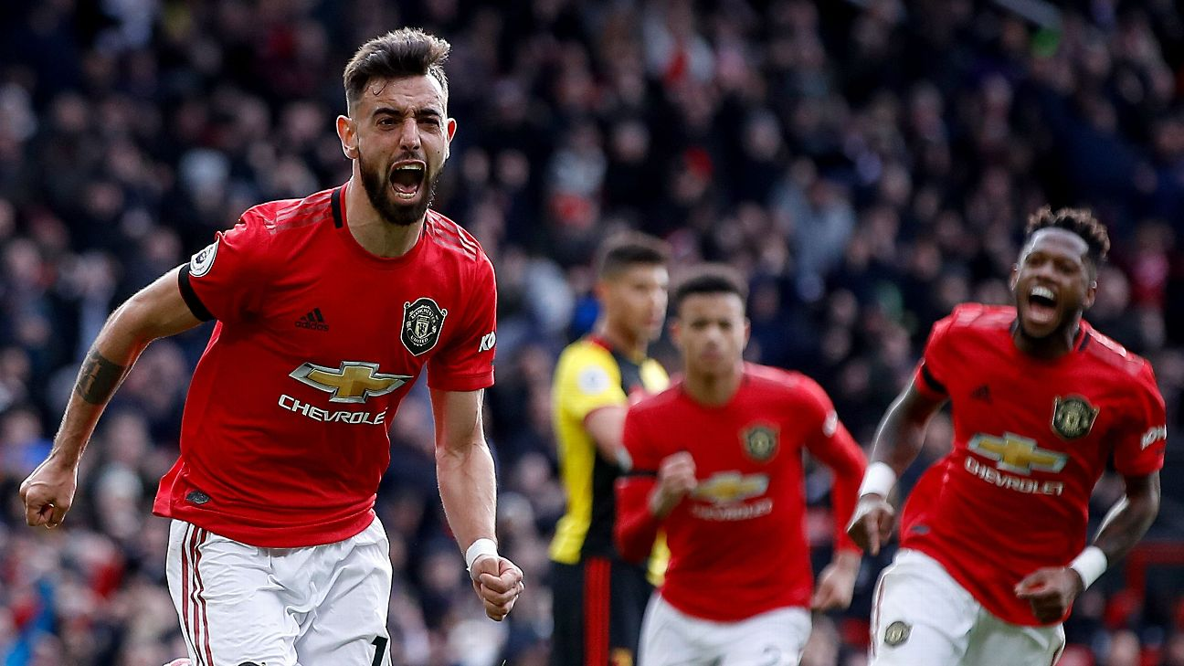 Manchester United S Bruno Fernandes Earns 8 10 After Scoring First Goal For Club Vs Watford