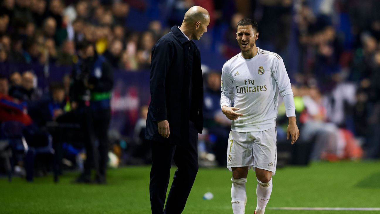 Eden Hazard suffered a fracture to his right distal fibula during Real Madrid's 1-0 loss at Levante.