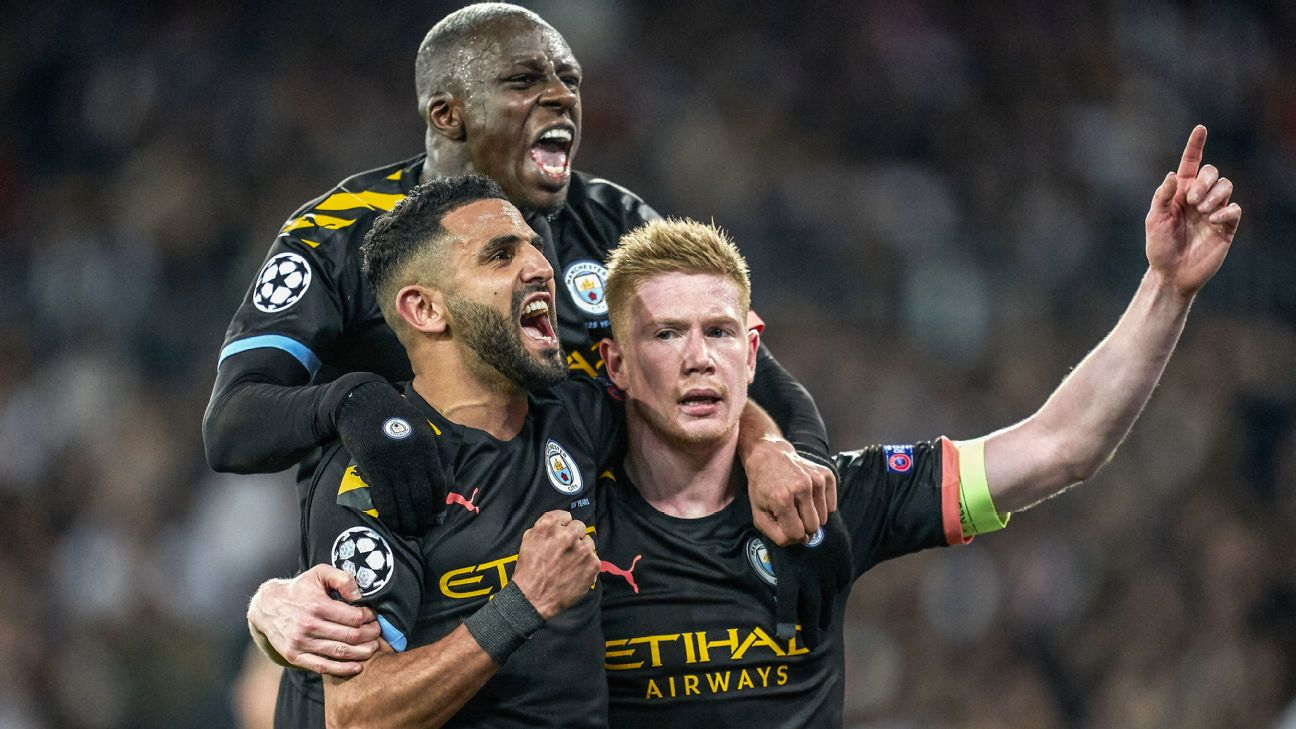 They trailed after nearly 80 minutes, but two goals in five minutes earned Manchester City a colossal win in Madrid.