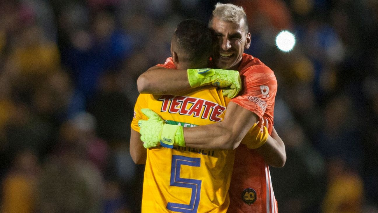 Tigres UANL goalkeeper Nahuel Guzman sent his team into the quarterfinals of the Concacaf Champions League with a last-minute headed goal.