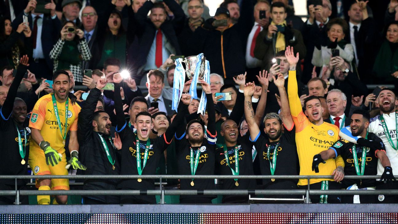 Man City win third straight Carabao Cup but age, defensive cracks ...
