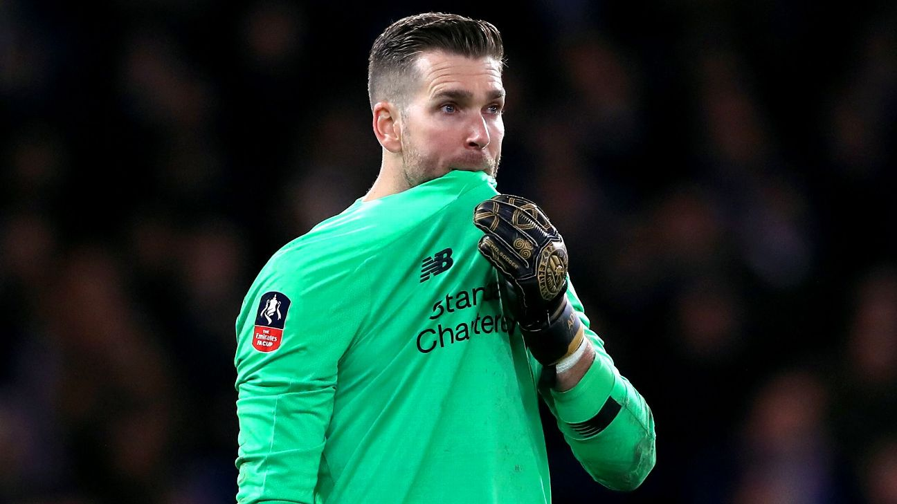Adrian reacts during Liverpool's FA Cup loss at Chelsea.