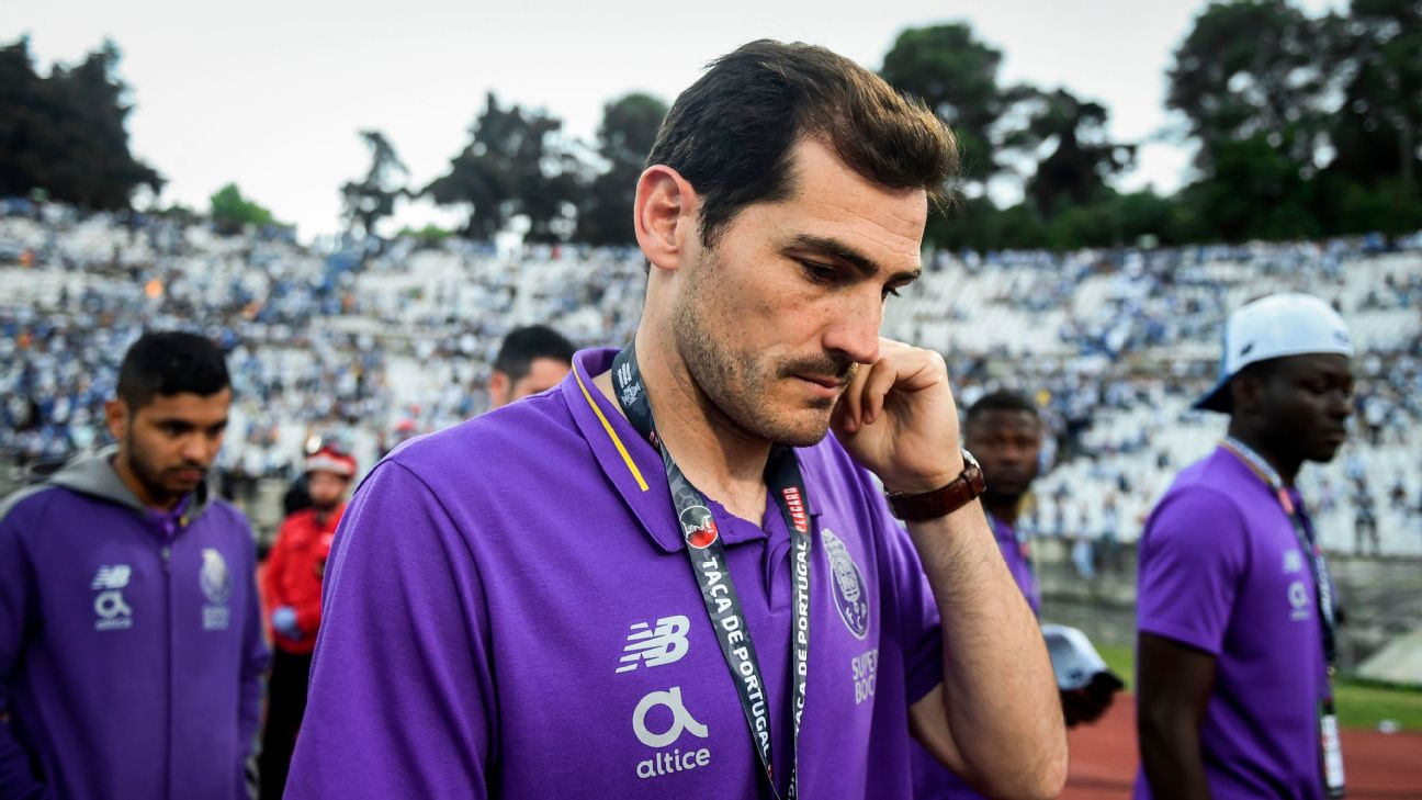Porto's Spanish goalkeeper Iker Casillas