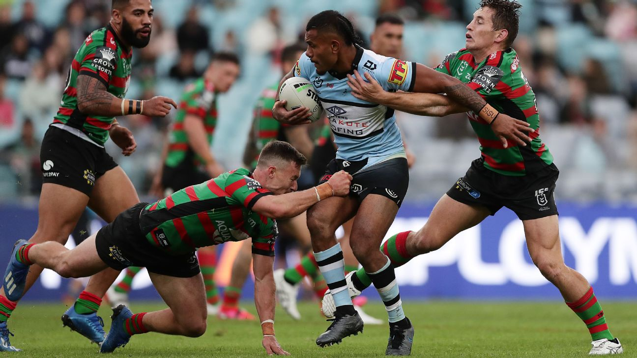South Sydney Rabbitohs Hold Off Cronulla Sharks Late Charge In Nrl
