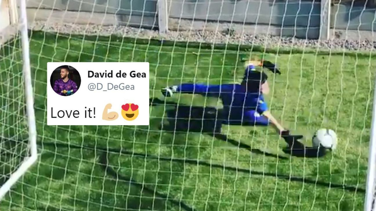 Coronavirus isolation: Man United stars praise young goalkeeper as solo training session goes viral