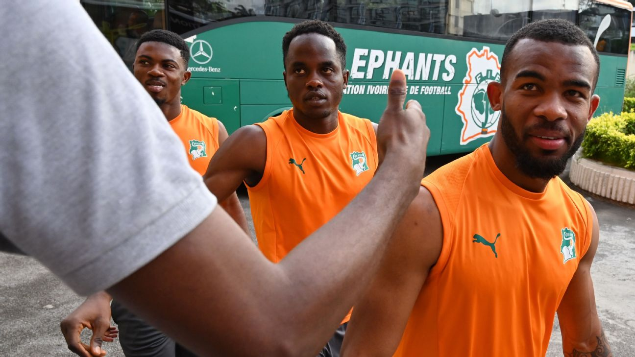 Christian Kouame (centre) sustained a knee injury at the Under-23 Africa Cup of Nations, meaning he would have missed the Olympic Games had the gone ahead as planned. Now he has a chance to recover and represent Ivory Coast in Japan next year.