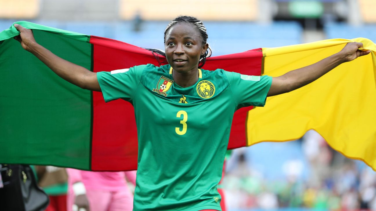 Njoya Nchout Ajara was named player of the match for her performance for Cameroon against New Zealand at the 2019 FIFA Women's World Cup in France.