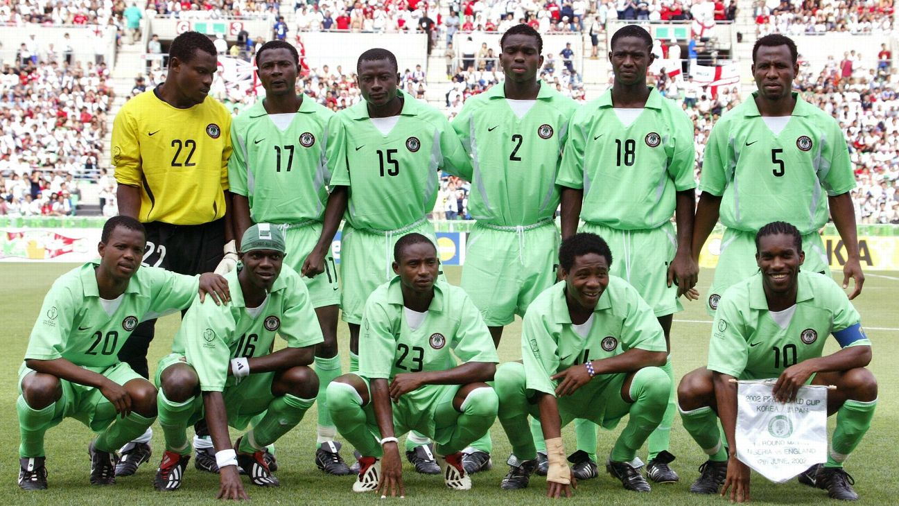 Justice Christopher (No. 15) played for Nigeria at the 2002 FIFA World Cup held in Japan and South Korea.
